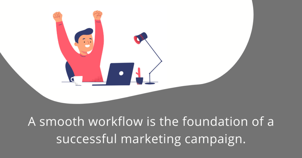 Smooth workflow for successful marketing.